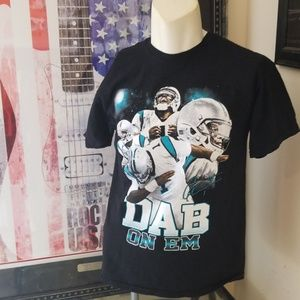 $6💟PANTHERS Cam Newton #1 Dab Tee❤$6 BUNDLED❤